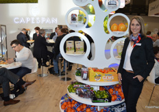 The Capespan stand was very busy pictured here is Adele Akermann.