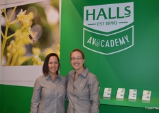 Leigh Green, Marketing Manager at Halls with the new CEO Tracey Davis, this was Tracey's first Fruit Logisitca.