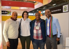Elvis Pieters - Graff Fruit, Lindie Stroebel - PMA South Africa, Logan von Willingh - Graff Fruit and Clayton Zwart from SATI.