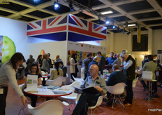 The AHDB UK stand where various UK companies had tables.