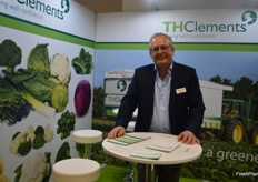 Chris Gedway at TH Clements had a stand for the first time, the company are looking to export some value added products.