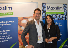 Alexandria Fonte and Oscar Rietkerk at Maxstim who produce crop bio-stimulants.