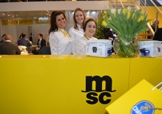 The lovely ladies helping visitors to the MSC stand.