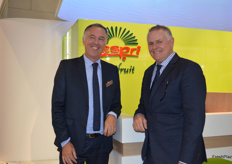 Peter McBride - Chairman of Zespri and Craig Thompson ZGS Europe.