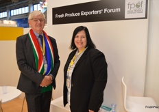 Anton Kruger and Claudia Walklett from FPEF.