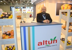 Satinbaev Kairat at the Altun stand.