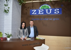 Christina Manossis and Antonis Ioannidis from Zeus, the company that exports kiwis from Greece.
