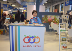 Aysel Oguz, export sales supervisor for Turkish companu Anadolu Etap.