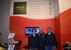 Shinya Nakamura and Dr. Carlo Vittucci from Tokita Seed Co.