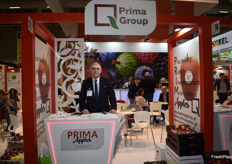 Viacheslav Arsenyev, export director from Prima. The Polish company deals in apples.