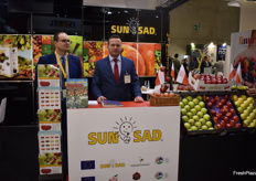Marcin Stasiak and Lukasz Lapacz from the Polish apple exporters SunSad.