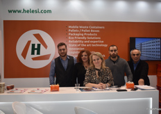 The plastic producing company Helesi's team; Paris Andrainopoulos, Aggeliki Anthi, Gianna Thanassodia Iakonos Holidis and Liannis Holidis. THe company produces pallets, boxes and bins that are usedin in Europe, Asia, Africa and South America.