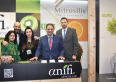 Dimitra Mitrsoli, George Efstratiou, Irini Mitrsoli, Christos Mitrosili and Nikos Katsaloulis from Greek exporting company Mitrosilis. They mainly export kiwis and citrus from Greece.