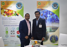 Amit Kalya and Sagar Deore from Kalya Exports. The Indian exporting company focuses mainly on grapes