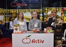 Marlena Wozniak, Monika Korbus-Bialek and Ilona Zolcik-Loboda from Polish apple exporting company Activ and the Fruit Family Association.