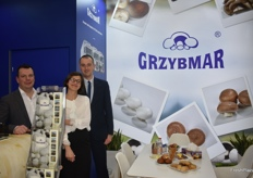 Joanna Leszko with her two colleagues. They were showcasing Grzybmar's Polish mushrooms.