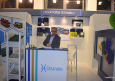 Mesut Idiz from Turkish company Cekaform. They make all kinds of plastic packaging.