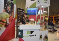 Marija Ognjenovic from EkoFungi, a Serbian company dealing in mushrooms.
