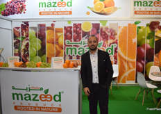 Ashraf Hafez, operation manager from Mazeed Produce. The Egyptian company exports a variety of fruits, like grapes and citrus.