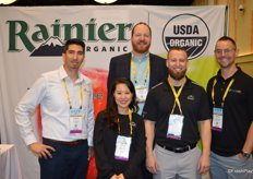 From left to right: Aaron DeHerrera and Soo Choi with Rainier Fruit, Andy Smith with Walsma Lyons, Tyler Johnson with Rainier Fruit and Steve Lyons with Vine Line Logistics.