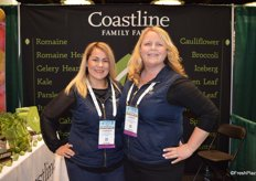 Carmen Placensia and Alison Pilcher with Coastline Family Farms.