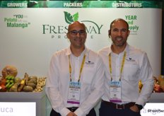 Ricardo and Jose Roggiero with Freshway Produce are proud of their new booth.