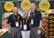 John Cameron, Heather White and Zach Swanson with NatureSweet Tomatoes.
