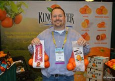 Jesse Silva with Kings River Packing shows Rapsberry oranges as well as Hierloom oranges. The Raspberry orange is an alternative name for blood oranges.