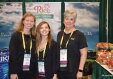 Maggie Travis, Lee-Ann Cudmore and Brenda Briggs with Rice Fruit Company.