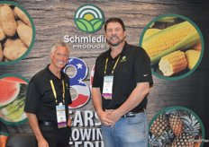 Scott McDulin and Dave Yeager with Schmieding Produce.