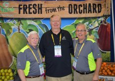 Promoting pears are Bob Koehler, Walter Johanson and Bob Catinella with Pear Bureau Northwest.