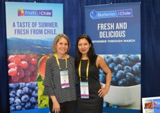 Allison Myers and Menuka Shrestha with the Chilean Fresh Fruit Association.