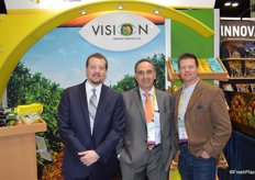Allan Napolitano, George Uribe and Tony Mitchell with Vision Import Group. Tony recently joined the company.