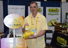 John Caragliano with Limoneira shows a bag of organic lemons with a bi-lingual label to serve the entire Canadian market.