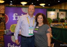 Matt Seeley with the Organic Produce Network and Karen Caplan with Frieda's Specialty Produce.
