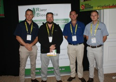 From River Bioscience: Johann Laubscher, Johan Vorster and Danie Janse van Vuuren.