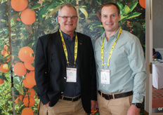 Abs van Rooyen, CEO of the ANB Investment Group, with Piet Pretorius, local ClemenGold marketing.