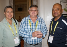 Idalette Olivier and Christo Theron of the Sundays River Citrus Company with Cyril Julius of the PPECB.
