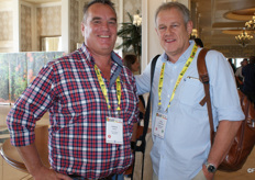 Andrew Muller of the CGA and Rikus Groenewald of Lona Citrus.