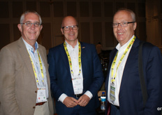 Gert Mulder, CEO of Fresh Produce Centre in the Netherlands with the Dutch agrocultural attachJack Vera and Jan-Louis Spoelstra of Transnet.