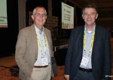 Gert Mulder, CEO of the Fresh Produce Centre with Ton van Arnhem NVWA, director at the Dutch plant protection agency.