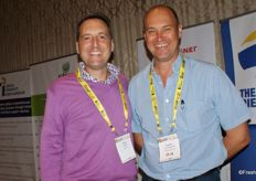 Scott Dowie, CEO of Pips Fruit, with Andries van Wyngaardt of the African Realty Trust.