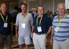 Citrus farmers Vernon Tockwell, Peter Button, Sean Moore (CRI) and Tim Wafer.