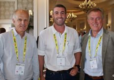 Johan Mouton of Mouton Citrus, Hein Koch of Tesco and Trevor Dukes of The Fruit Farm Group.