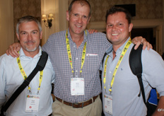 Charl du Bois of Capespan, Steve Turner of Corefruit and Rowan Vickery of Capespan.