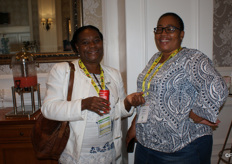 Luyanda Kutza of Nkomoshe Farms, East London, and Fundiswa Mayonta of Oakdene Citrus, Fort Beaufort.