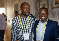 Bonani Nyhoda of the National Agricultural Marketing Council with Wandile Sihlobo, Agbiz agricultural economist.