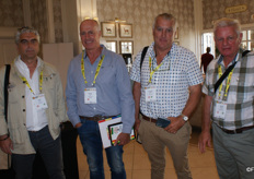 Javier Cano of Eurosemillas, George Hall of Tangelo Citrus Estate, Francois Joubert of Joubert Sitrus (Sundays River Valley) and Hannes Joubert of Habata Boerdery.