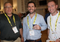 Andy Connell, logistics consultant, Daniel Porteous of Bridge Shipping and Riaan Ellis of Unifrutti.