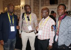 Lukhanyo Nkombisa of the CGA Citrus Growers' Company, Tshilidzi Mathobo of LDARD, Tshianeo Mathidi of the CGA and Khaukanani Ralishugu of DAFF.